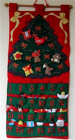 Christmas Tree Advent Calendar Pattern Page 2